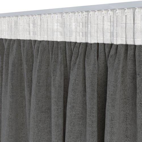 Gordijn ALDRA 1x140x300 verduister zwart