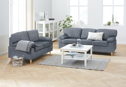 Sofa GEDVED 2-Sitzer grau