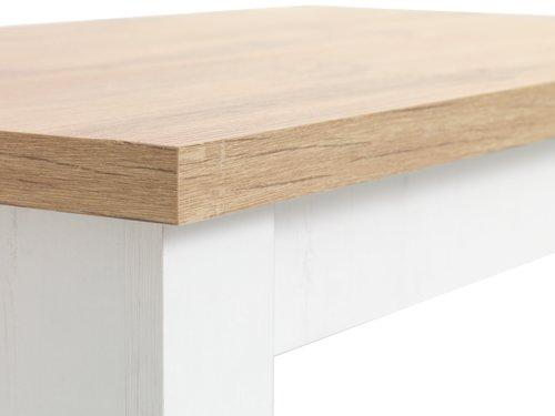 Τραπέζι μέσης MARKSKEL 60x110 λευκό/δρυς