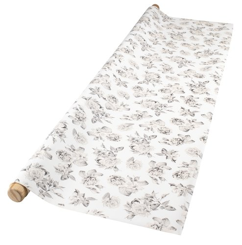 Vinyl tablecloth SALVIA 140 grey