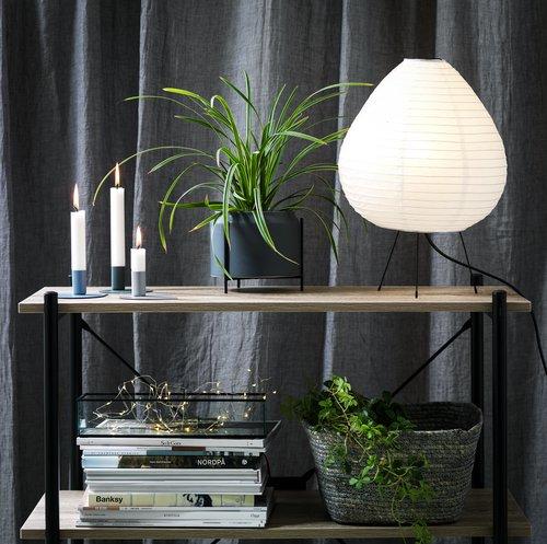 Plant pot HANNES D16xH14cm w/stand