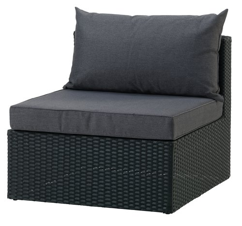 Lounge BASTRUP mittmodul svart