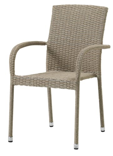 Καρέκλα στοιβαζ. HALDBJERG φυσικό