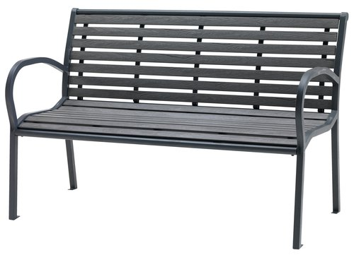 Bench RAKKEBY W125xD59 grey
