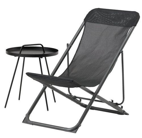 Plážová židle RUNEBAKKEN černá