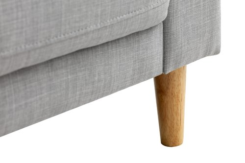 Soffa EGENSE 3-sits ljusgrå