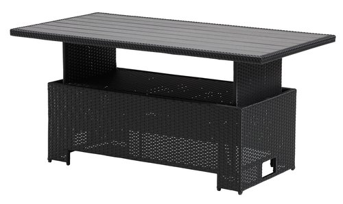 Loungebord FARUM B75xL145xH45/68 svart