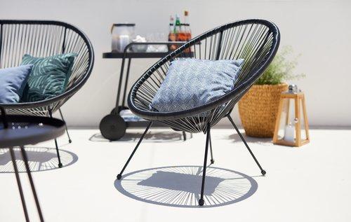 Krzesło wypoczynkowe UBBERUP czarne