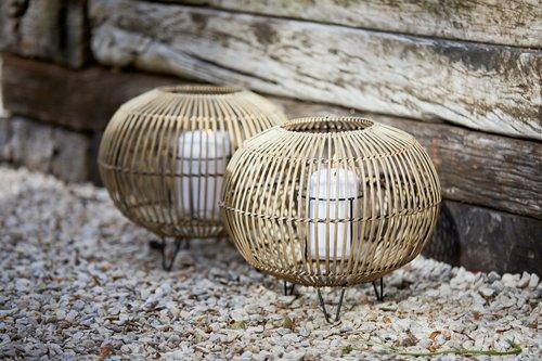 Laterne EGEHJORT Ø32x26 Bambus
