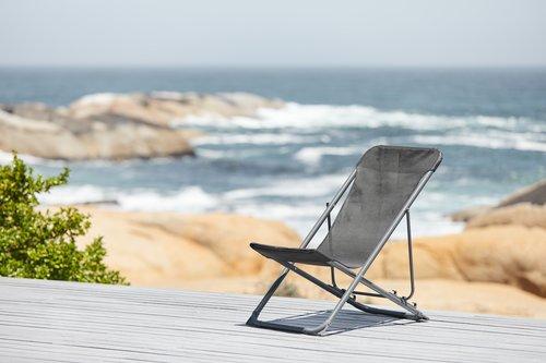 Beach chair RUNEBAKKEN black