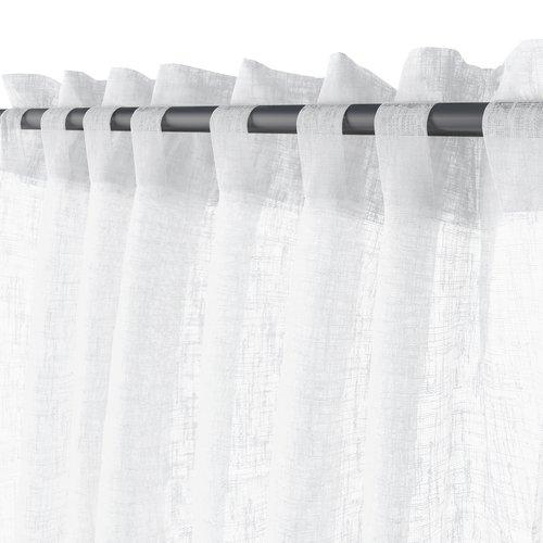 Gardin UNNEN 1x140x245 lin-look hvit