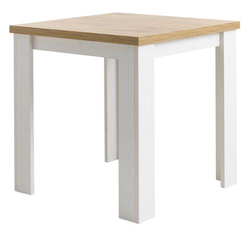 Jedálen. stôl MARKSKEL 80x80 biela/dub