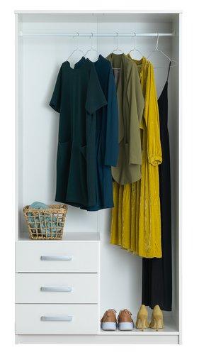 Kleiderschrank VINDERUP 100x200 weiß
