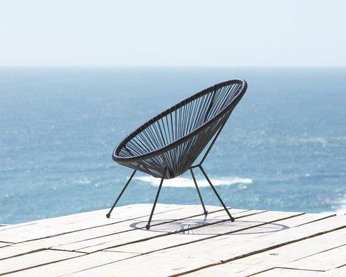 Scaun terasă UBBERUP negru