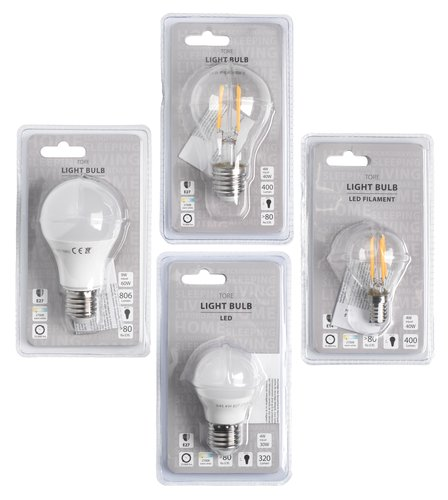 Žarnica TORE 4W E27 LED 320 lumnov