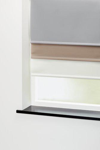 Roleta SENJA 90x210 cm tmavě béžová