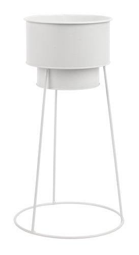 Kukkaruukku FERGUS Ø20xK47cm valkoinen