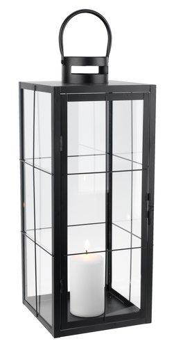 Laterne VILLADS B20xL20xH50cm schwarz