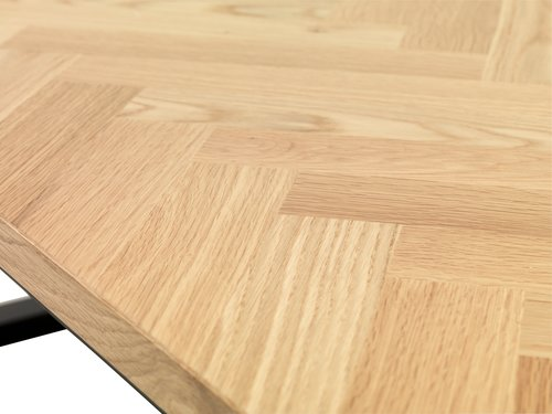 Dining table AGERSKOV 90x200 oak/black