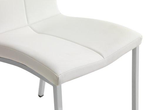 Krzesło HAVNDAL biały/chrom