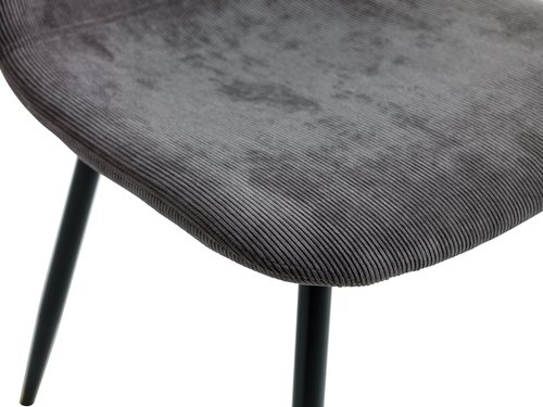 Dining chair JONSTRUP corduroy grey
