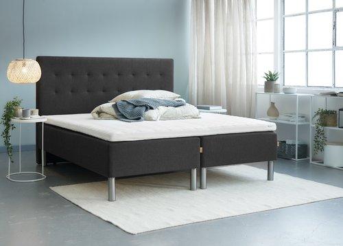 Sengegavl H50 STITCHED 180x125 grå-40