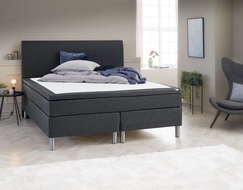 Sänggavel 160x125 H30 CURVE grå-26
