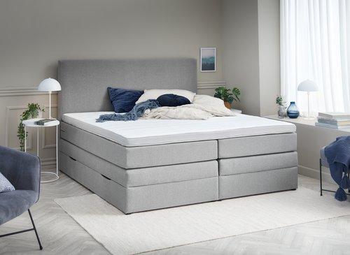 Sänggavel 180x125 H20 PLAIN grå-31