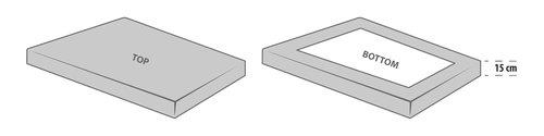 Ζέρσεϊ σεντόν 60x120x15cm λευκό KRONBORG
