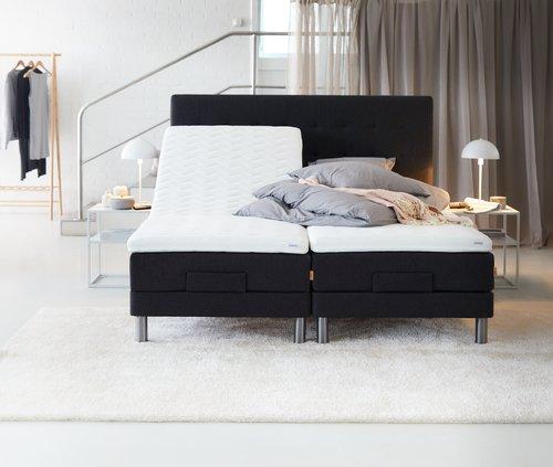 Sänggavel 180x125 H50 söm grå-40