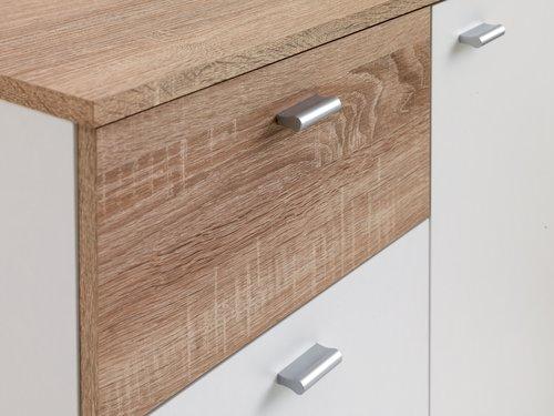4 drawer 1 door chest BELLE white/oak