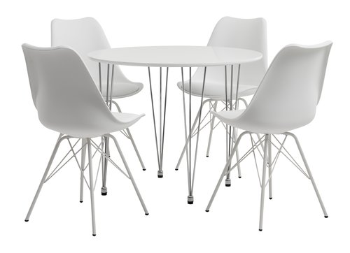 BANNERUP Ø90 table + KLARUP chaise