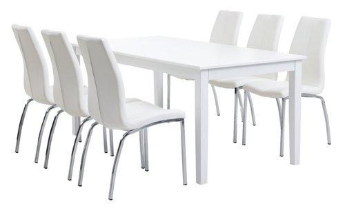 NORDBY L180 white + 4 UK HAVNDAL white