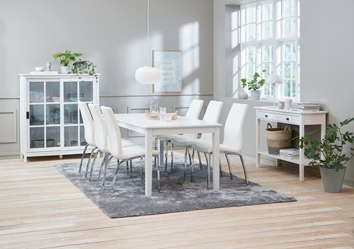 Table NORDBY 90x180 blanc