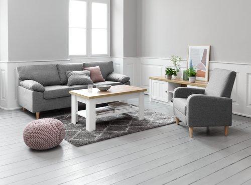 Konfer. stolík MARKSKEL 60x110 biela/dub