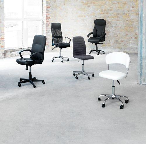 Kancelářská židle ABILDHOLT šedá/chrom