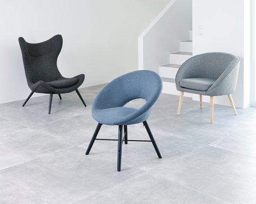 Кресло FAUSING антрацитно сиво