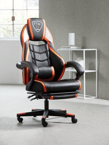 Gaming chair GAMBORG black/orange