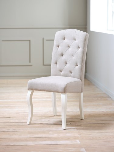 Dining chair STENLILLE sand/white