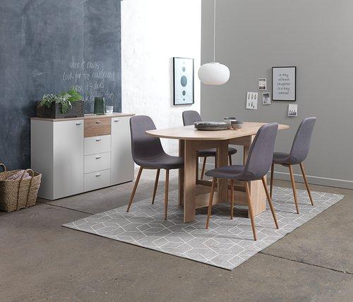 Krzesło JONSTRUP szary/dąb