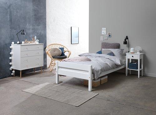 Bedframe VESTERVIG 90x200 wit