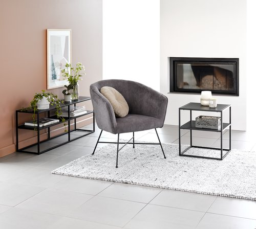 Fauteuil FAUSING antraciet grijs