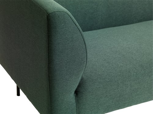 Bank KARE chaise longue links d.groen