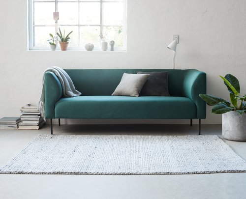 Sofa KARE 3-pers. mørkegrøn