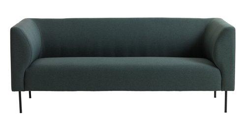 Soffa KARE 3-sits mörkgrön