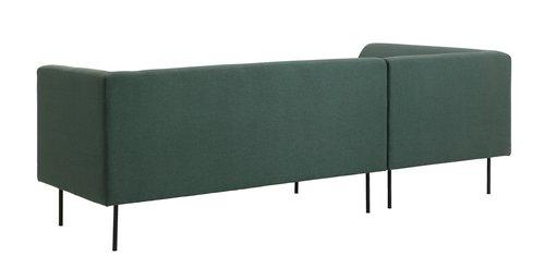 Καναπές με σεζλόνγκ KARE σκ.πράσινο αρισ