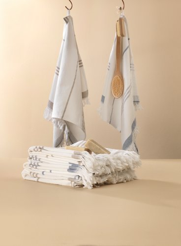 Handduk hamam VENA vit/blå