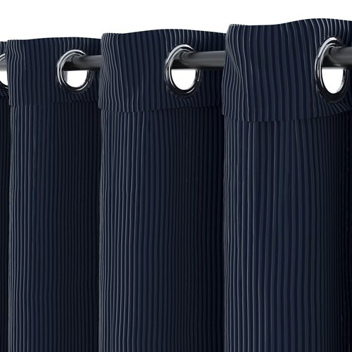 Curtain TOTAK 1x140x245 corduroy blue