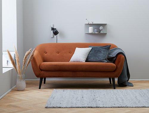 Sofa EGEDAL 2,5-pers. velour orange