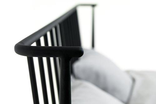 Ліжко ABILDRO 160x200см чорний
